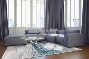 Γωνιακός καναπές με ύφασμα, κατασκευάζεται σε επιθυμητές διαστάσεις